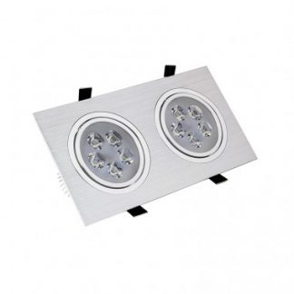 Spot LED Downlight Rectangulaire 2x5x1W (Pack de 10)