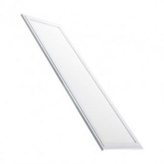 Panneau LED Slim Éclairage d'Urgence 120x30cm 40W Cadre Blanc