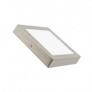 Plafonnier LED Carré 18W Argentée (Pack de 10)