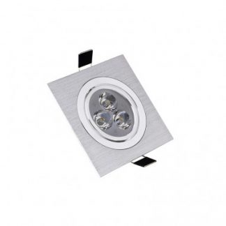 Spot LED Downlight Carré 3x1W (Pack de 10)