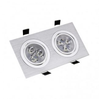 Spot LED Downlight Rectangulaire 2x3x1W (Pack de 10)
