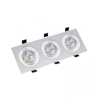 Spot LED Downlight Rectangulaire 3x3x1W (Pack de 10)